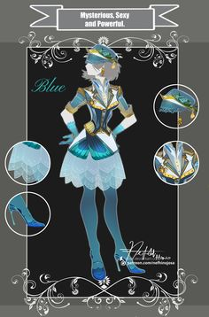 CLOSED Adoptable Outfit: MSP Blue by Hassly.deviantart.com on @DeviantArt