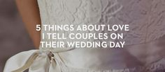 2. I hope this is the day you love each other the least.
