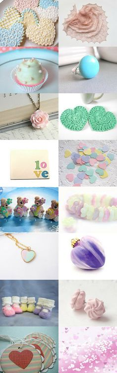 PASTEL LOVE by Sharon Reed on Etsy--Pinned with TreasuryPin.com