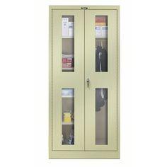 """Hallowell 400 Series 72""""H x 48""""W x 18""""D Armoire Storage Cabinet Color: Parchment"""