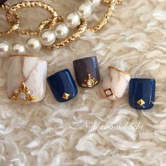 White, Blue, Gray Nails