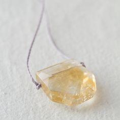 translucent prism of polished citrine ~