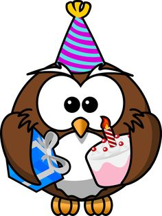 Celebration Pictures Clip Art | ... night?) party carrying a cake and a wrapped gift, wearing a party hat
