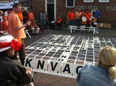 WK outdoor Wordfeud  Koninginnedag Monnickendam #scrabble wk-wordfeud