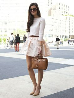 Spring Blush Tones. Retro inspired street style.