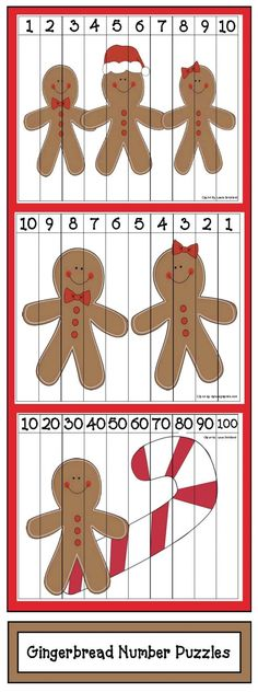 Come Do Some Gingerbread Activities With Me Looking for some gingerbread-themed activities that practice a variety of standards? Christmas Math, Preschool Christmas, Noel Christmas, Preschool Crafts, Christmas Themes, Xmas, Numbers Preschool, Gingerbread Man Activities, Gingerbread Crafts