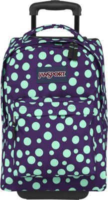 Rockland Luggage 17 Inch Rolling Backpack Pink Dot Medium | School ...