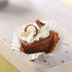 bite-sized chocolate cheesecakes