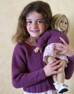 matching girl and doll cardigans