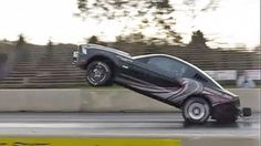 2013 Mustang Cobra Jet dragster pops impressive wheelie, then crash lands | Motoramic - Yahoo! Autos