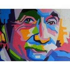 Lukisan Abstrak Pop Art Albert Einstein  Panjang: 80  Lebar: 60cm  Bahan: Canvas, Cat Aga  Tidak Mudah Luntur.  Sangat cocok untuk dijadikan dekorasi rumah anda.  Dsign Lukisan bisa request, Dimensi paling kecil : 80x60cm, sampai paling besar: 120x100cm  Harga Berbeda, Tergantung Ukuran dan Dsign Lukisan.  Mohon Sertakan Ukuran Pada Saat Pemesanan