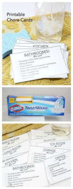 Printable Chore Cards | Download these Printable Chore Cards. Perfect for the kids to know how to get the job done right! @Clorox @Walmart #ad