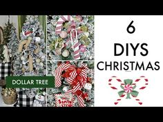 In today's video I am so excited to share with you 6 DIY Dollar Tree decor crafts! This is episode 7 i. Dollar Tree Christmas, Christmas Crafts, Rustic Christmas, Christmas 2019, Christmas Ideas, Merry Christmas, Dollar Tree Decor, Dollar Tree Crafts, Crafts To Do