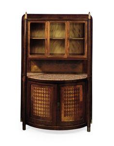 Cabinet Designer: Josef Hoffmann, Austrian, 1870-1956 Manufacturer: J. & J. Kohn Medium: Beech, other woods, marble, glass, brass, other metals Place Manufactured: Vienna, Austria Dates: 1904