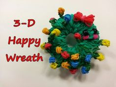 Happy Wreath Tutorial by feelinspiffy (Rainbow Loom Rainbow Braids, Rainbow Loom Bands, Rainbow Loom Charms, Rainbow Loom Bracelets, Rainbow Loom Tutorials, Rainbow Loom Patterns, Rainbow Loom Creations, Rubber Band Charms, Rubber Band Bracelet