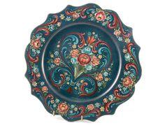 Plate with Rogaland Rosemaling by Toshiko Ogishi