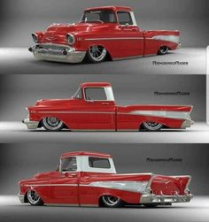 The 9 Most Expensive Chevy Trucks To Be Sold At Barrett-Jackson 57 Chevy Trucks, Lowrider Trucks, Custom Pickup Trucks, Classic Pickup Trucks, Old Pickup Trucks, Gm Trucks, Chevy Pickups, Cool Trucks, Lifted Chevy