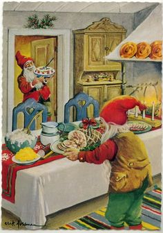 Gnomes prepare a feast...
