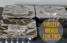 Freezer Meal Cooking for TWO!