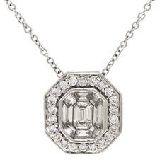 Diamond Pendant 14K. $2,495.00 #BenBridge #SouthBayGalleria