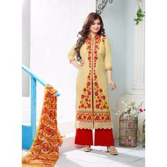 The Wonderfab Full Fancy Cotton Embroidered Dress Material