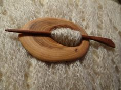 Wooden shawl pin by Woodur on Etsy
