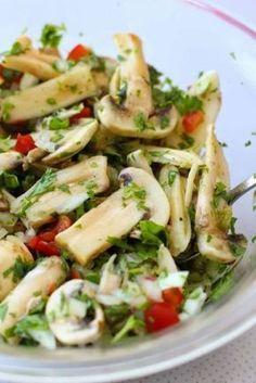 Receta: Ceviche de Champiñones con Jalapeños // I should definitely try it! Raw Food Recipes, Vegetable Recipes, Mexican Food Recipes, Vegetarian Recipes, Cooking Recipes, Healthy Recipes, Cooking Tips, Healthy Snacks, Healthy Eating