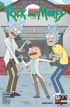 "vetrofroza: ""so I saw ""RICK AND MORTY"" comic book cover yesterday and got SUPER excited! Does it the reality where Rick and Morty has opposite characters? Rick And Morty Comic, Rick Und Morty, Rick And Morty Poster, Ricky Y Morty, Wubba Lubba, Rick And Morty Season, Rick E, Adult Cartoons, Animation"
