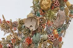 """What if climate change causes tropical sea creatures to migrate towards the poles and invade terrestrial spaces as seawater warms and sea levels rise? Introducing """"Aqueduct"""" — a new installation with hundreds of porcelain corals, anemones, sponges and oth…"""