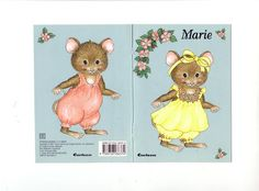 Marie paper dolls