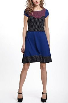 Anthropologie Intarsia Dotted Sweater Dress