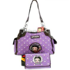 Betty Boop AND Purple!! I've gotta have it!  Betty Boop Embroidered Lavender Plaid Purple « Clothing Impulse