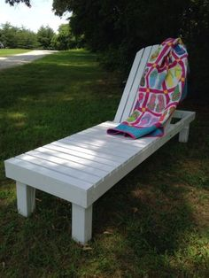 Wood Chaise Lounges   Do It Yourself Home Projects from Ana White