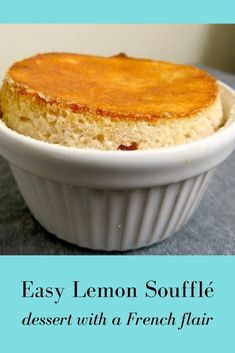 """Lemon """"Minute"""" Soufflé - this easy recipe shows how quickly you can make a fluffy soufflé at home. Souffle Recipe Dessert, Lemon Souffle Recipe, Souffle Recipes Easy, Brunch Recipes, Dessert Recipes, Romantic Desserts, Elegant Desserts, Easy Desserts, Delicious Desserts"""