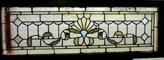 Nice Antique American Stained Glass Transom Window Architectural Salvage | eBay