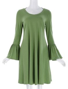 32fae271c7 Summer Womens Vintage Dresses Solid Color Long Bell Sleeve Cotton 2017 Plus  Size Women Clothing Ladies Casual Loose Dress