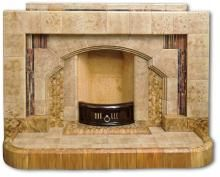 all tiled fireplace 1930s Fireplace, 1930s House, Stick On Tiles, Concave, Hearth, Candle Sconces, Original Art, Wall Lights, Art Deco
