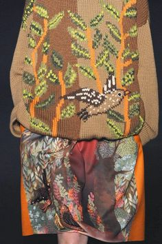 patternprints journal: PRINTS, PATTERNS, TRIMMINGS AND SURFACE EFFECTS FROM MILAN FASHION WEEK (A/W 14/15 WOMENSWEAR) / 1