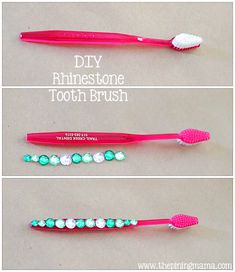 DIY Rhinestone Projects by The Pinning Mama | DIY Rhinestone Tooth Brush
