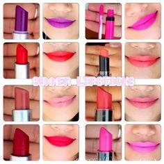 summer+lipsticks.....I gotta have these! Love this website!
