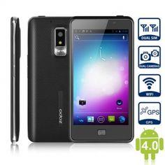 ZOPO ZP300 Android 4.0 Smartphone 3G Téléphone Portable 4,5 pouces Double Carte SIM WiFi GPS WCDMA + GSM écran tactile capacitif - Noir - 7mall.fr