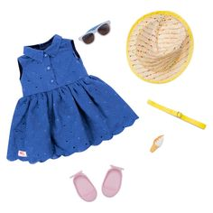 Our Generation® Deluxe Outfit - Summer Dress™ : Target Our Generation Doll Accessories, Our Generation Doll Clothes, Poupées Our Generation, Girl Doll Clothes, Girl Dolls, Ropa American Girl, Journey Girls, Summer Dress Outfits, Fashion Books