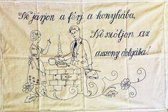 FALVÉDŐK A KONYHÁBÓL / Többi képért katt a posztra ! Hungary, Tote Bag, Embroidery, History, Punch, Google, Dashboards, Pink, Needlepoint