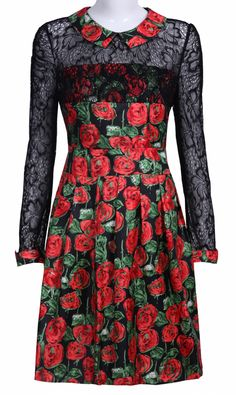 I NEED THIS #SheInside #floral #collared #dress #roses