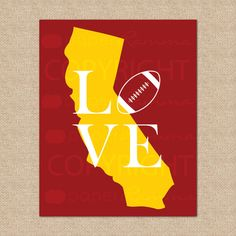 USC Trojans Football Print  Trojans USC University by PaperRamma, $20.00