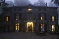 Before dawn, Chateau near St. Remy de Provence, France