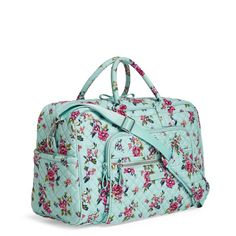 7b7c8babf1 Image of Iconic Compact Weekender Travel Bag in Water Bouquet Vera Bradley  Travel Bag