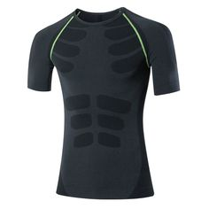 Mens Compression Top Tight Short Sleeve T-Shirt Quick Drying Breathable Training