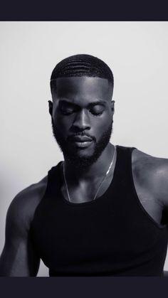 """I'm a black man, whether you like it or not. Beard Art, Gorgeous Black Men, Black Men Hairstyles, Men Photoshoot, Fallen London, Black And White Man, African Men, Black Models, Stylish Men"