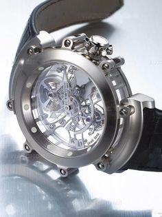 Não sei se falo primeiro da máquina ou se falo da joia, sei que o conjunto delas forma uma das mais notáveis peças no mundo dos relógios... Esse é um Bvlgari Gerald Genta Sapphire Bridge Tourbillon